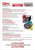 Avignon 2016 - 4 jours de projection et débats : le programme du collectif culture