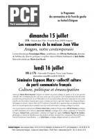 Hommage : Aragon notre contemporain